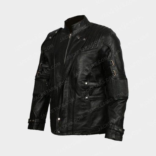 Chris Pratt's Star Lord Black Leather Jacket