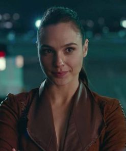 Justice League Wonder Woman Brown Suede Jacket