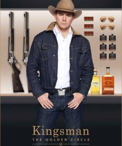 Kingsman The Golden Circle Tequila Blue Denim Jacket
