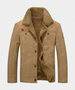 Men's Going Out Spring & Fall Regular Chocolate Color Jacket