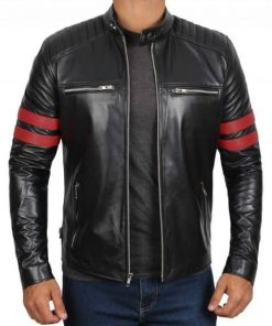 Men Retro Vintage Black Jacket