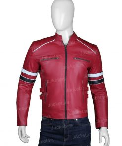 Mens Cafe Racer Red Leather Jacket.jpg