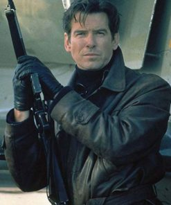 Pierce Brosnan Tomorrow Never Dies Brown Leather Jacket
