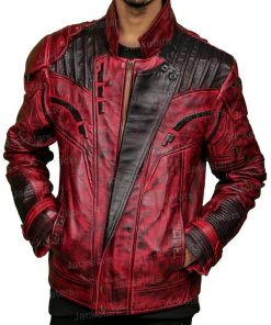Star Lord Guardians Of The Galaxy 2 Leather Red Jacket