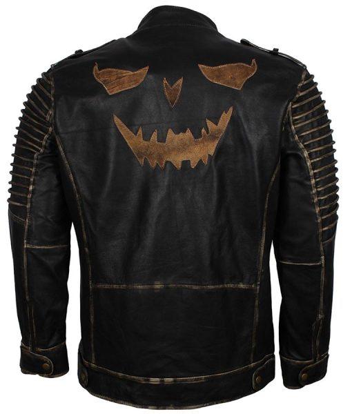 Suicide Squad Joker Black Biker Leather Jacket