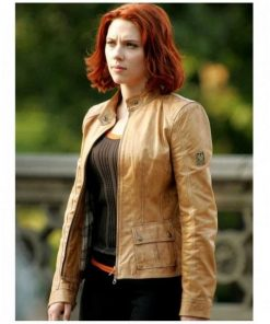 The Avengers Natasha Romanoff Brown Leather Jacket