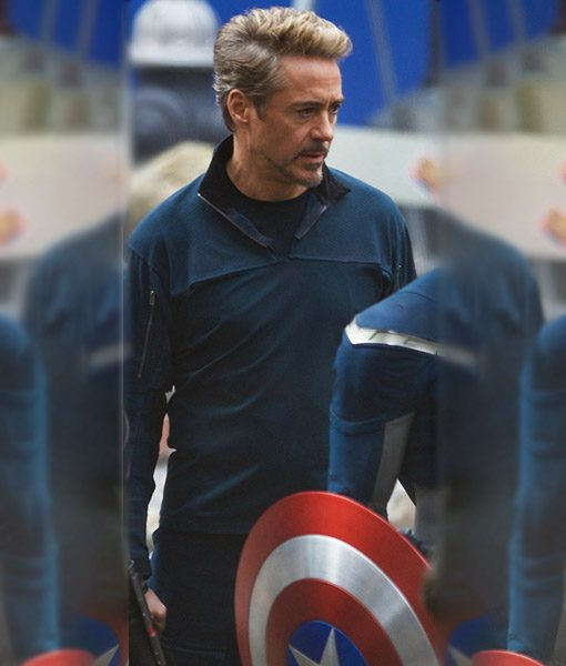 Tony Stark Endgame Blue Cotton Jacket