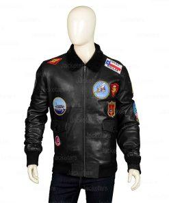 Top Gun Black Leather Jacket