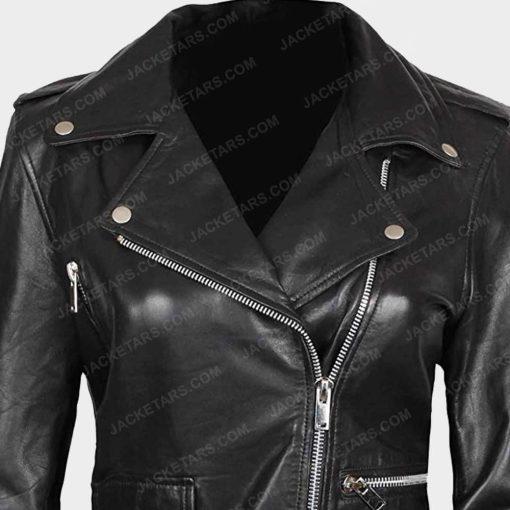 Womens Asymmetrical Biker Jacket