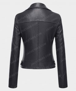 Womens Biker Black Jacket