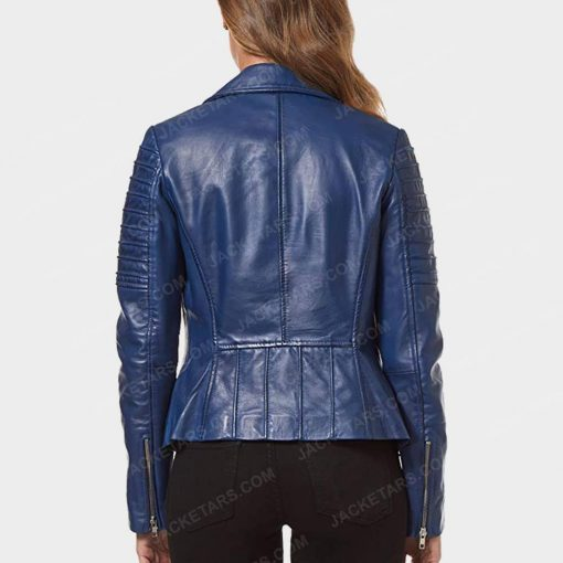 Womens Motorcycle Blue Jacket