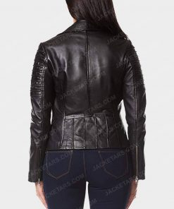 Womens Motorcycle Black Jacket