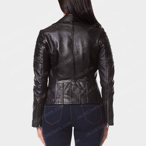 Womens Motorcycle Black Jacket