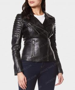 Womens Motorcycle Black Leather Jacket