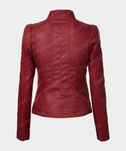 Womens Biker Red Jacket