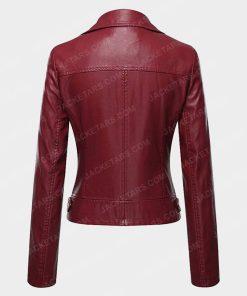 Womens Biker Red Jacket