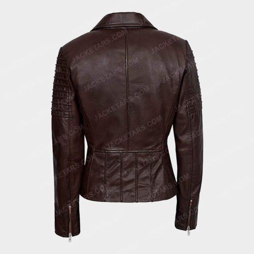 Womens Motorcycle Brown Jacket