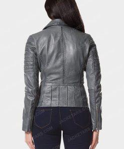 Womens Motorcycle Grey Jacket
