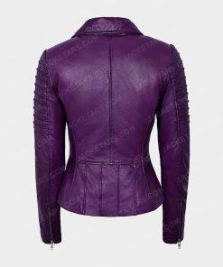 Womens Motorcycle Purple Jacket