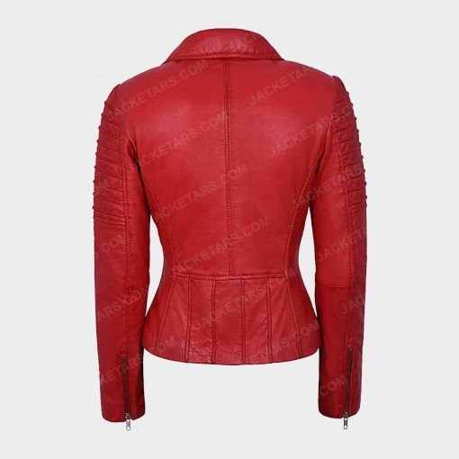 Womens Motorcycle Red Jacket