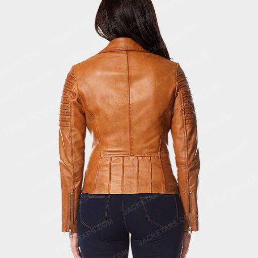 Womens Motorcycle Tan Jacket