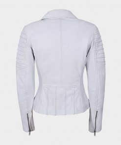 Womens Motorcycle White Jacket