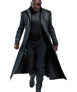 Avengers Nick Fury Black Trench Coat