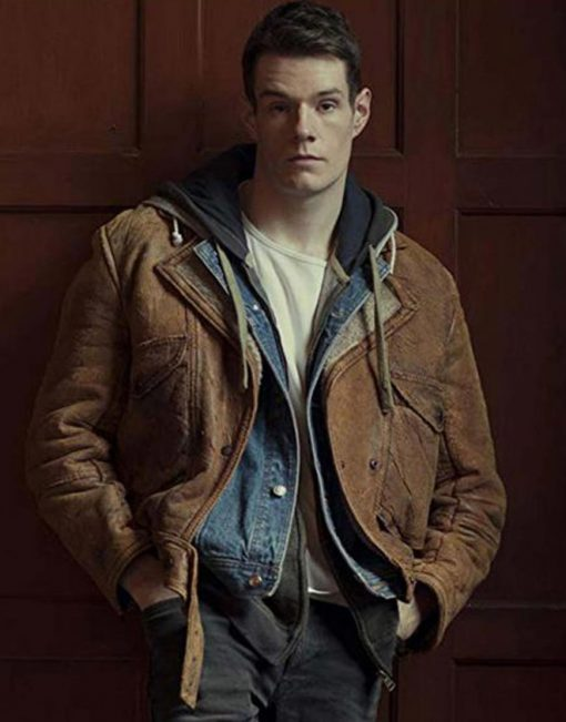 Adam Groff Sex Education Leather Jacket