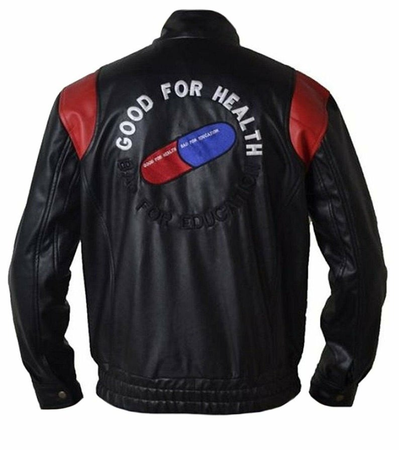 Akira Kaneda Good For Health Bad For Education Pill Leather Jacket