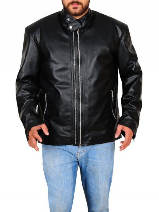 Amenadiel Lucifer Black Leather Jacket
