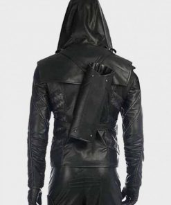 Arrow Prometheus Black Leather Jacket
