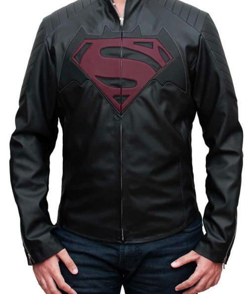 Batman vs Superman Dawn Of Justice Black Leather Jacket