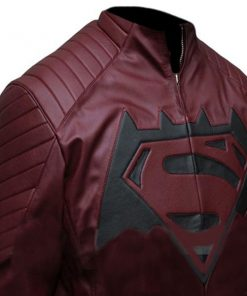 Batman vs Superman Dawn Of Justice Maroon Leather Jacket