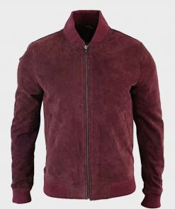 Black Mirror Karl Maroon Bomber Jacket