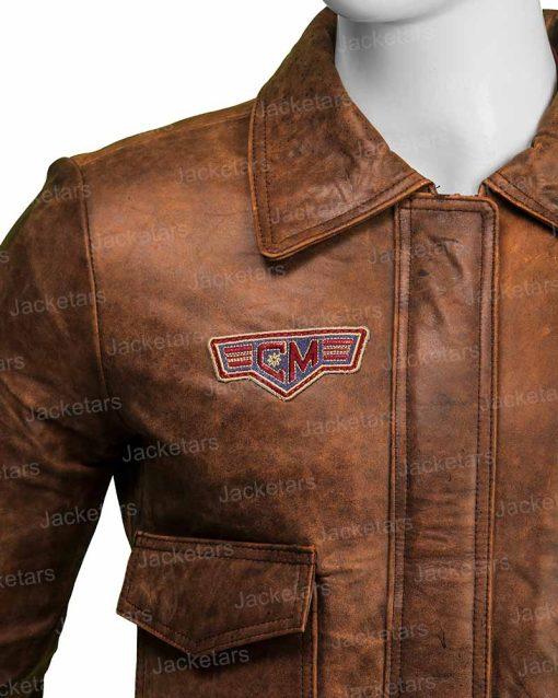 Captain Marvel Brie Larson Brown Jacket
