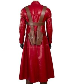 Dante Devil May Cry 3 Trench Red Leather Coat