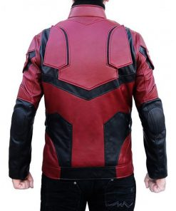 Daredevil Matt Murdock Charlie Cox Red And Black Leather Jacket
