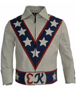 Evel Knievel Daredevil Motorcycle Leather Jacket