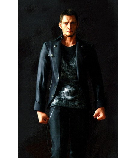 Final Fantasy 15 Cor Leonis Black Leather Jacket