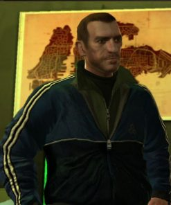 GTA IV Niko Bellic Blue Bomber Jacket