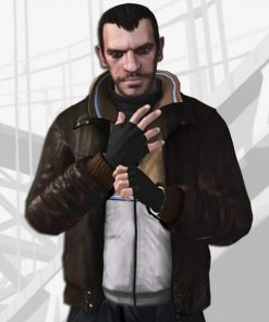 GTA IV Niko Bellic Bomber Leather Jacket