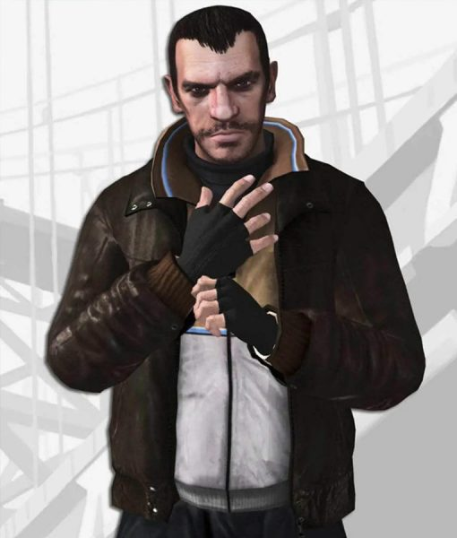 GTA IV Niko Bellic Bomber Leather Jacket