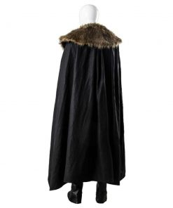 Game Of Thrones Jon Snow Brown And Black Leather Costume