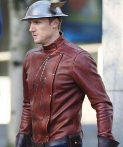 Jay Garrick The Flash Brown Leather Jacket