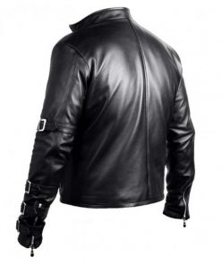 K Dash King of Fighters Black Leather Jacket