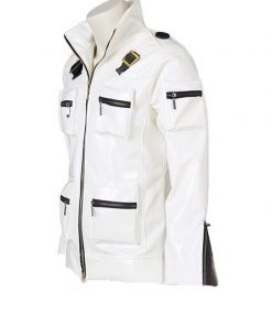 King Of Fighters Kyo Kusanagi White Leather Jacket