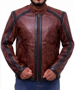 Lucifer Dan Espinoza Brown Leather Jacket