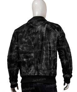 Men Distressed Black Jacket