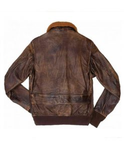 Men Distressed Flight Brown Leather Jacket