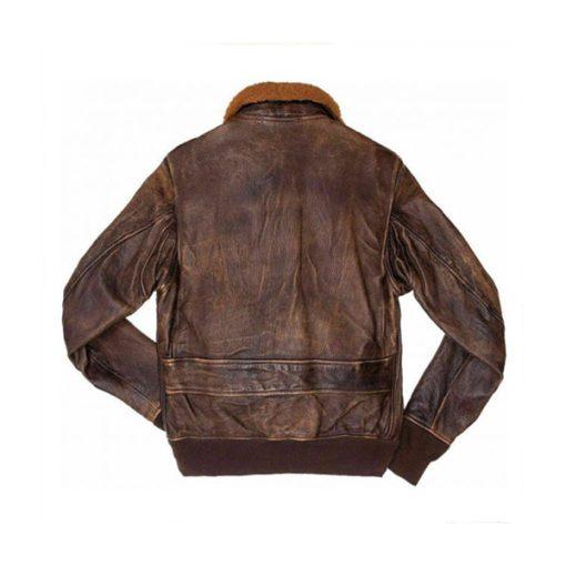 Men Distressed Flight Brown Leather Jacket